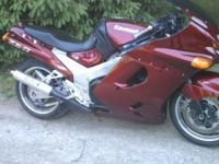 you are taking a look at a 1993 Kawasaki ZX 11 D. this
