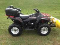 2009 Brute Force 750i 4x4 (efi) with snow plow $6595
