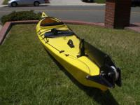 Used/like new Kayak with tail, garaged stored given