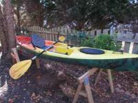 kayak for sale w/ paddle, dry storage, great for