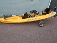 Super cool Kayak.  Malibu II ... Comes with paddles ...