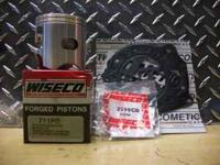 Wiseco piston # 711PS, Std bore, gasket kit # 68-7043.
