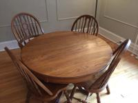 Keller Home Furnishings hardwood oak dining room table