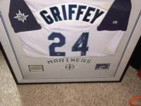 Beautiful certified autographed framed Ken Griffey Jr.