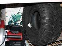 Curved tread design delivers maximum traction on all