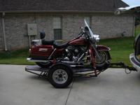 Kendon single big bike , stand up trailer, toro flex