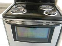 Kenmore Black/Stainless Coil Stove, Warming Drawer,