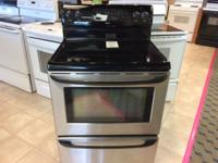 Kenmore Black & Stainless Smooth Top Range Stove Oven -