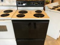 Kenmore Black & White Range Stove Oven - USED