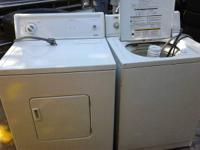 Kenmore electric dryer and  Estate washer made by