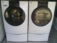 very nice kenmore elite front loading washer and dryer