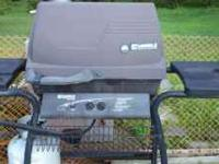 Kenmore gas grill, 2 burner with side burner serviced
