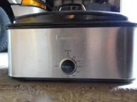 Stainless steel Kenmore roaster oven with rack and 3