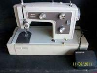 This is an older Kenmore sewing machine, it works I