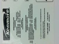 I AM SELLING A KENMORE SERIES 400 WASHING MACHINE, SIZE