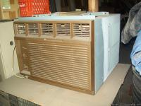 18,000 btu - 19 tall 25 1/2 wide. Window unit is a