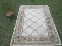 "Kennedy Linens Area Rug 7'x8"" Floral Neutral colors."