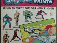 KENNER'S NEW MARVEL SUPERHEROES SPARKLE PAINTS SET No.
