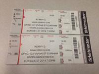 I have 2 hardcopy Ticketmaster tickets for Kenny G (An