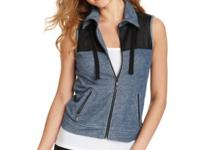 Perfect for sporty-leisure style, quilted faux-leather