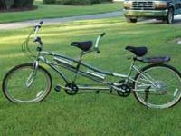New condition, tandem/two seated bicycle. Great fun!!