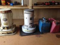 2 Kerosene Heaters with 10 gallons of kerosene and 2
