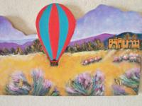 Key Holder Southwest. Hand made, hand painted on wood.
