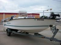 This is a 2000 model Key Largo 19' long boat with a