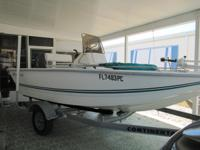 17 foot boat , like new, equipped with bimini, 60hp