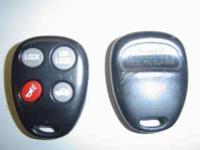 GM Remote keyless entry fob # 24401698 4 button lock,