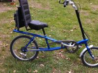 KHS Recumbent bike, 7 speed, wonderful shape,