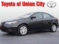 It's hard to resist this black 2012 Kia Forte LX! It