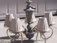 Kichler Lights 2065 TGP 5 lamp chandelier with shades