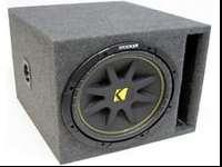 Kicker 10 inch subwoofer. It's in a sealed box. (Not