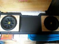 Perfect condition Kicker speakers with custom box.