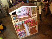 Large doll house, for use with Barbies.  Excellent
