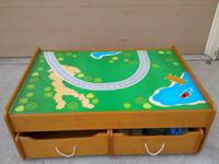 Children Kraft Train Table, with great storage drawers