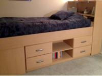 Beautiful light wood kid's bedroom furniture for sale.
