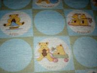 This children's vintage blanket is flannel product and