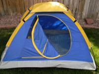 This kids' Dome Tent is suitable for camping as well as