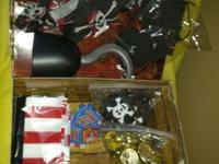 Children's Pirate Party Stuff. Includes: Treasure