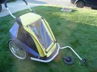 Gently used Kidarooz bicycle trailer. Can be used as
