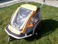 Kidarooz 2-in-1 bicycle trailer / stroller. Hardly