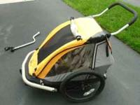 selling our gently used bike trailer / double stroller.