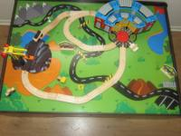 Train table complete with all tracks, accessories, and