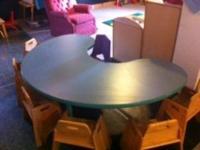 like new seats 6 kids plus teacher teal blue green