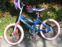 "Girls 12"" training bike, excellent condition. traing"
