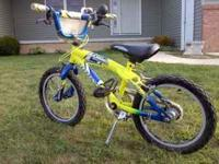 THIS KIDS BIKE IS IN GREAT CONDITION. NO KNOWN