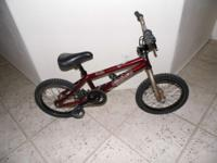 "KIDS 16"" Haro forum BMX Bike 3 pec cranks Gyro 36T"