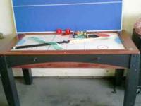 Kids 3-in-1 game table. Pool, ping pong, and electric